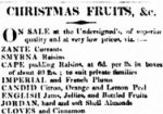 Advertisement for Christmas fruits from The Sydney Herald, 20 December 1832.
