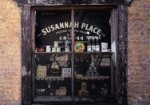 Susannah Place shop window, showing old fashioned goods for sale, re-created to c1915.