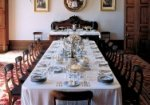 The dining room at Elizabeth Bay House, with a full 'a la Francais' setting for 14 diners.
