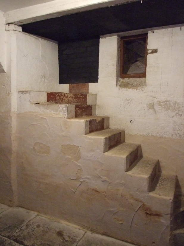 The original servants' stairs as they emerged into the cellars at Elizabeth Bay House.