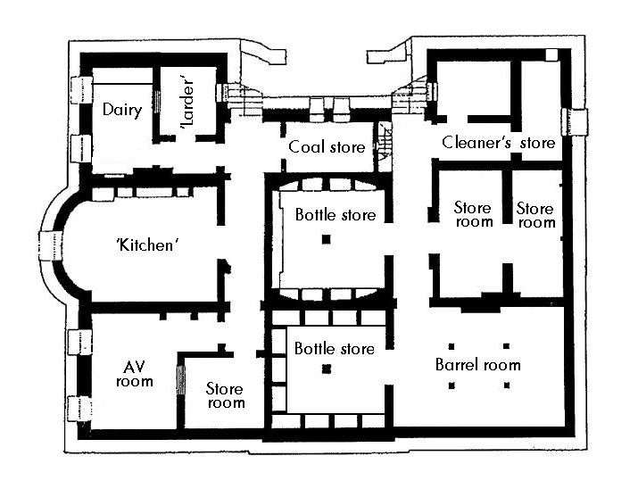The plan of the cellars at Elizabeth Bay House.