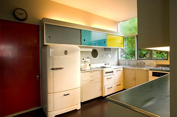 The kitchen at Rose Seidler House.