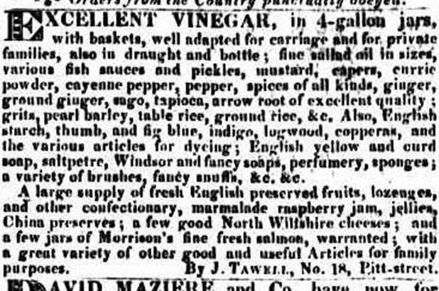 Advertisement from The Sydney Gazette and New South Wales Advertiser, 13 October 1825, p 4
