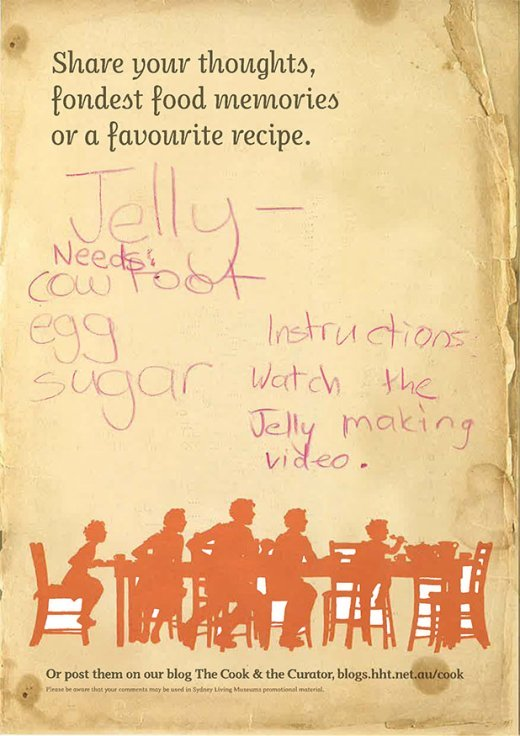 Visitor comment on jelly making from the Eat your history: a shared table exhibition