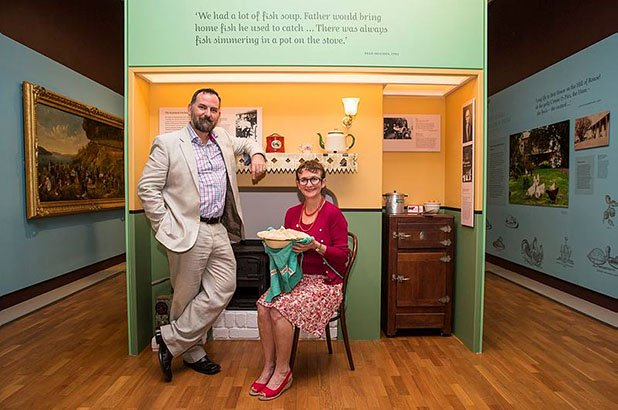 The Cook and the Curator in the Eat your history exhibition.