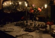 The Rouse Hill dining room by candlelight