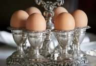 Silverplate eggcup cruet from Elizabeth Bay House.