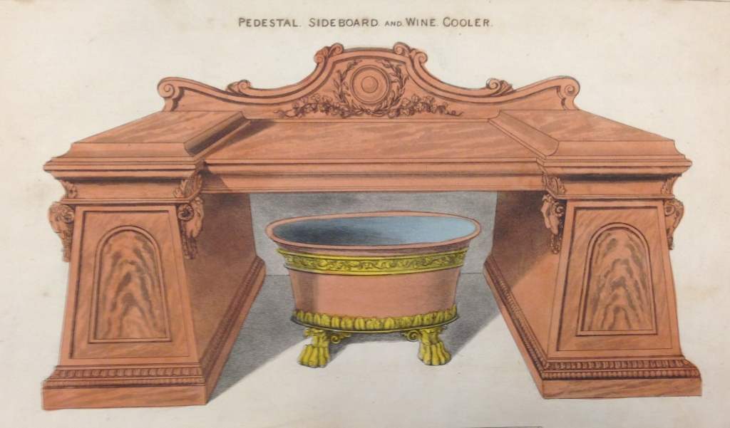 'Pedestal sideboard and wine cooler', Pl. LXXV from George Smith's, Cabinet makers and upholsterers guide, J.Taylor, London, 1808