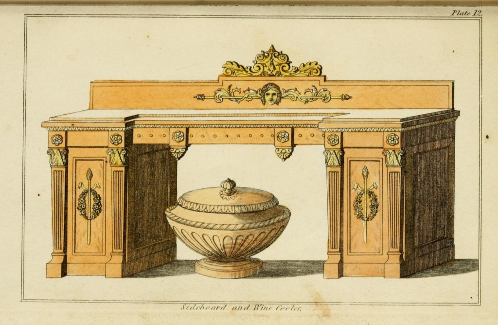 Design for a sideboard and cooler plate 12