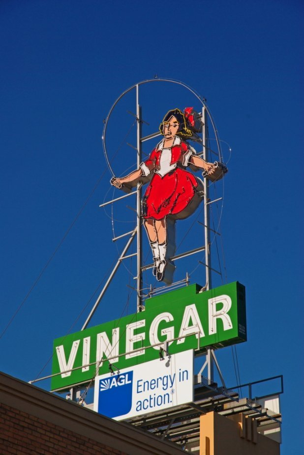 Skipping Girl Vinegar Sign