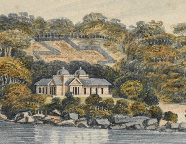 "Eliza Point nr Sydney NSWales"" (detail) from Collection of views predominantly of Sydney, ca 1807 1829-1847 1887, owned by A.W Fuller"