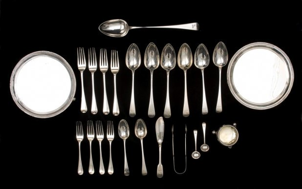 Cutlery provenanced to Governor Bourke by silversmith Matthew Boulton