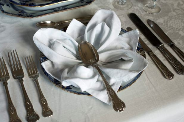 Formal table setting detail from the Elizabeth Bay House Collection