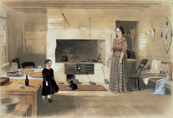 The kitchen in Monsieur Noufflard's house Sydney 1857 by Samuel Thomas Gill