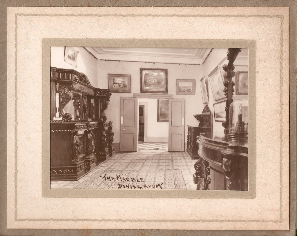'The marble dining room'. Vaucluse House souvenir album, ca1935. Thomas Lawlor photographer. Vaucluse House.