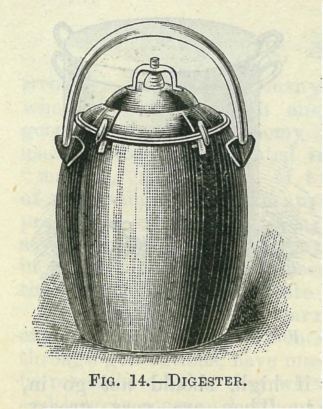 'Fig. 14. Digester' from Cassels Household Cookery. Cassel & Co., Melbourne. 1899