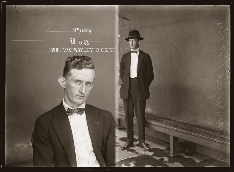 William Cyril Moxley, Special Photograph number 1152, 12 February 1923, Central Police Station, Sydney
