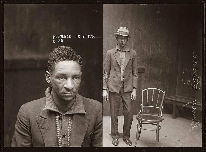 Mug Shot of Henry Pierce, special photograph number D95, 12 August 1929, Central Police Station, Sydney