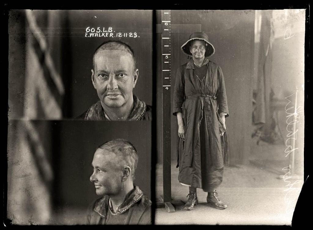 Mug Shot of e. Walker circa 1923