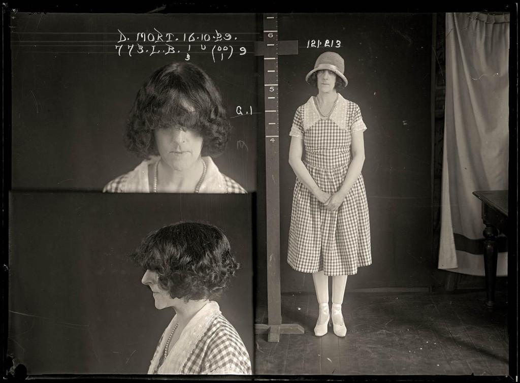 Mug shot of convicted murderer Dorothy Mort, 16 OCTOBER 1929