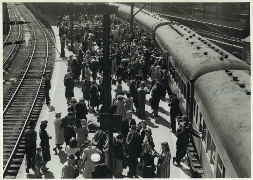 The Brides' Train, 1945.
