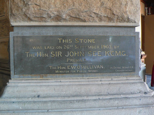 One of the foundation stones of Central Station - this one was laid in 1903 at the base of the clock tower.