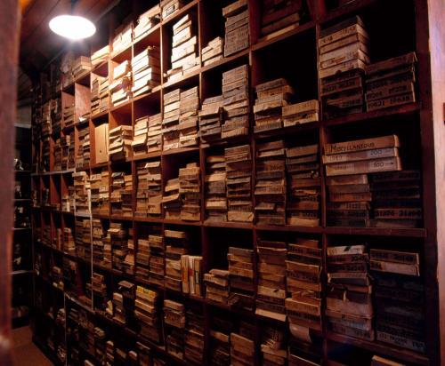 A towering wall of pigeonholes, how the loft once looked.
